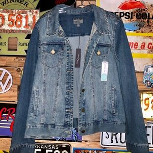NWT Market & Spruce Denim jacket Size XL